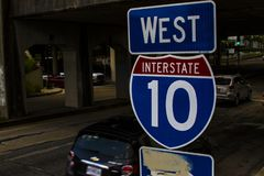 Interstate 10 from News Orleans stock images