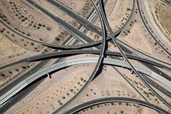 Interstate 10 och kretsar 202 San som solbrännan utbyter royaltyfri foto