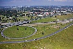 Interstate - Onramp - Offramp Stock Images