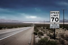 Interstate road Royalty Free Stock Images