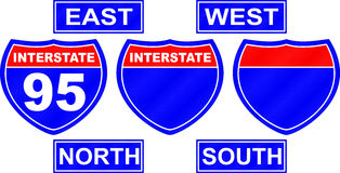 Interstate Road Sign Stock Photos