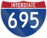 Interstate Route Shield Royalty Free Stock Photo