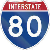 Interstate Route Shield. United States interstate route shield Stock Photography
