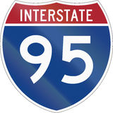 Interstate Route Shield Stock Photography