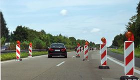 Interstate scenery in germany Royalty Free Stock Image