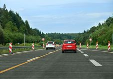 Interstate scenery in germany Stock Images