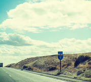 Interstate 5 sign in Pacific Coast Highway Stock Images