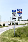 Interstate 69 sign Royalty Free Stock Photo