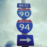 Interstate Sign Royalty Free Stock Images