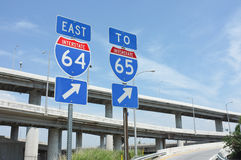 Interstate Signs Stock Photo