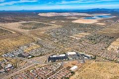 Interstate 19 south of Tucson, Arizona Royalty Free Stock Image