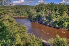 Interstate State Park Is Located On The St. Croix River By Taylor Falls, Minnesota Royalty Free Stock Image