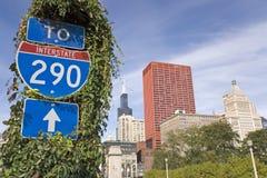 interstate tecken 290 arkivfoton
