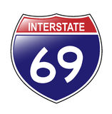 interstate tecken 69 royaltyfri illustrationer