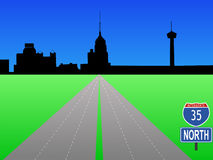 Interstate to San Antonio Royalty Free Stock Images