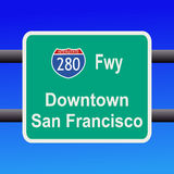 Interstate to San Francisco Royalty Free Stock Photos