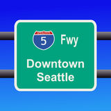 Interstate to Seattle sign Royalty Free Stock Image
