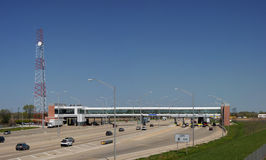 Interstate toll road gate Stock Photography