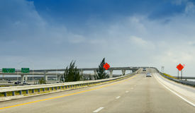 Interstate traffic in Miami junction Stock Photography