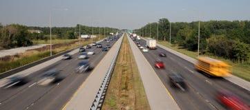 interstate trafik arkivbild