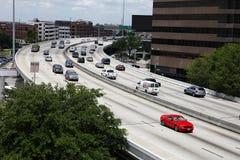 interstate trafik för 45 houston arkivbild
