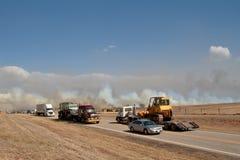 interstate trafik för omväg Fotografering för Bildbyråer