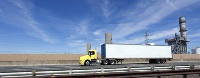 Interstate Trucking. Under blue sky. New Jersey turnpike Stock Photography