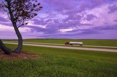 Interstate under big sky royalty free stock image