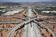 Interstate utbyte 17 & 101 royaltyfri fotografi