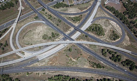 Interstate utbyte 17 & 40 Arkivfoto
