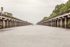 Interstates 10 en Louisiane Photos libres de droits