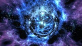 Interstellaire wormholereis royalty-vrije illustratie