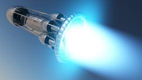 Interstellar rocket Stock Photography