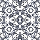 Intertwined chains seamless pattern. Royalty Free Stock Photography