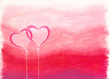 Intertwined heart balloons Stock Images