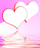 Intertwined Hearts Displays Romantic Couple And Marriage Royalty Free Stock Images