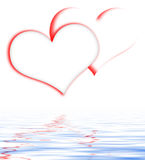 Intertwined Hearts Displays Romanticism And Passionate Relations Royalty Free Stock Images