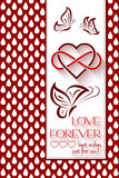 Intertwined Hearts. Love Forever Royalty Free Stock Image