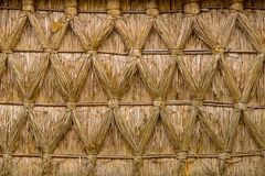 Intertwined Thatched Reed on on a Cottage Stock Photography