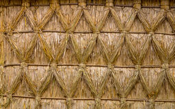 Intertwined Thatching of Reed on on a Cottage Royalty Free Stock Images