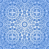 Intertwining Floral Seamless Pattern Blue Stock Photo