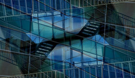 Intertwining reflections stock photos