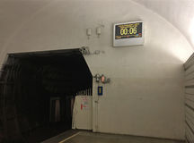 Interval clock in metro Stock Photos