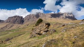 Interval shooting. Ingushetia, the formation of rain clouds over the Main Caucasian ridge. stock video
