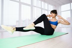 Fit woman training abs, interval workout. Interval workout, activity, healthy lifestyle, sport, weight loss, tabata fit woman training abs stock images