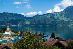 Interlaken lake Stock Photo