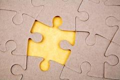 Intervalle dans le puzzle Photographie stock