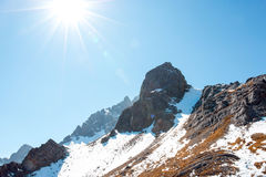 Intervalle de haute montagne photos stock