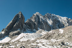 Intervalle de haute montagne Photographie stock