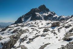 Intervalle de haute montagne Images stock
